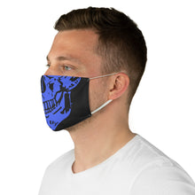 Load image into Gallery viewer, Basic Skull Fabric Face Mask in Blue
