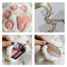 Load image into Gallery viewer, Plush Cat Paw Purse