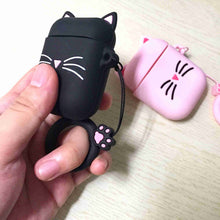 Load image into Gallery viewer, Simple Cute Silicone Cat Air Pod Charging Case