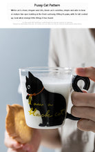 Load image into Gallery viewer, Clear Cat Tail Mug 300ml