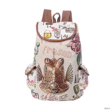 Load image into Gallery viewer, Miyahous Canvas Drawstring Backpack