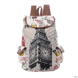 Miyahous Canvas Drawstring Backpack