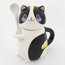 Load image into Gallery viewer, Precious Ceramic Cat Mug and Spoon Set