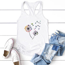 Load image into Gallery viewer, Chromatic Cat Paw Dandelion Tank Top