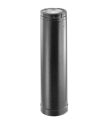 "48"" Gas Flue Black"