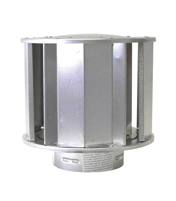 High Wind Vertical Termination Cap for Gas Flue