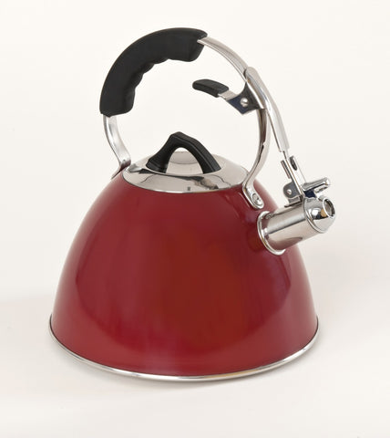 3ltr Red Whistling Kettle