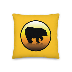Bear City Premium Throw Pillow - Yellow