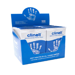Clinell Antibacterial Hand Wipes (individually wrapped)