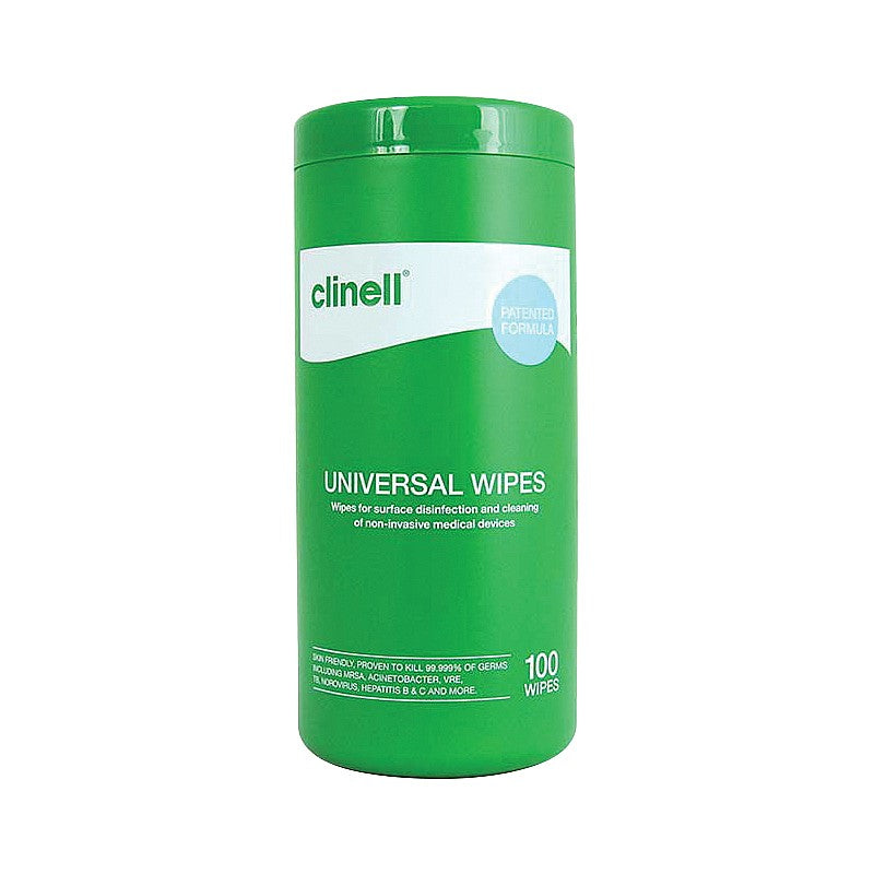 Clinell Universal Wipes Tub- 100 Wipes