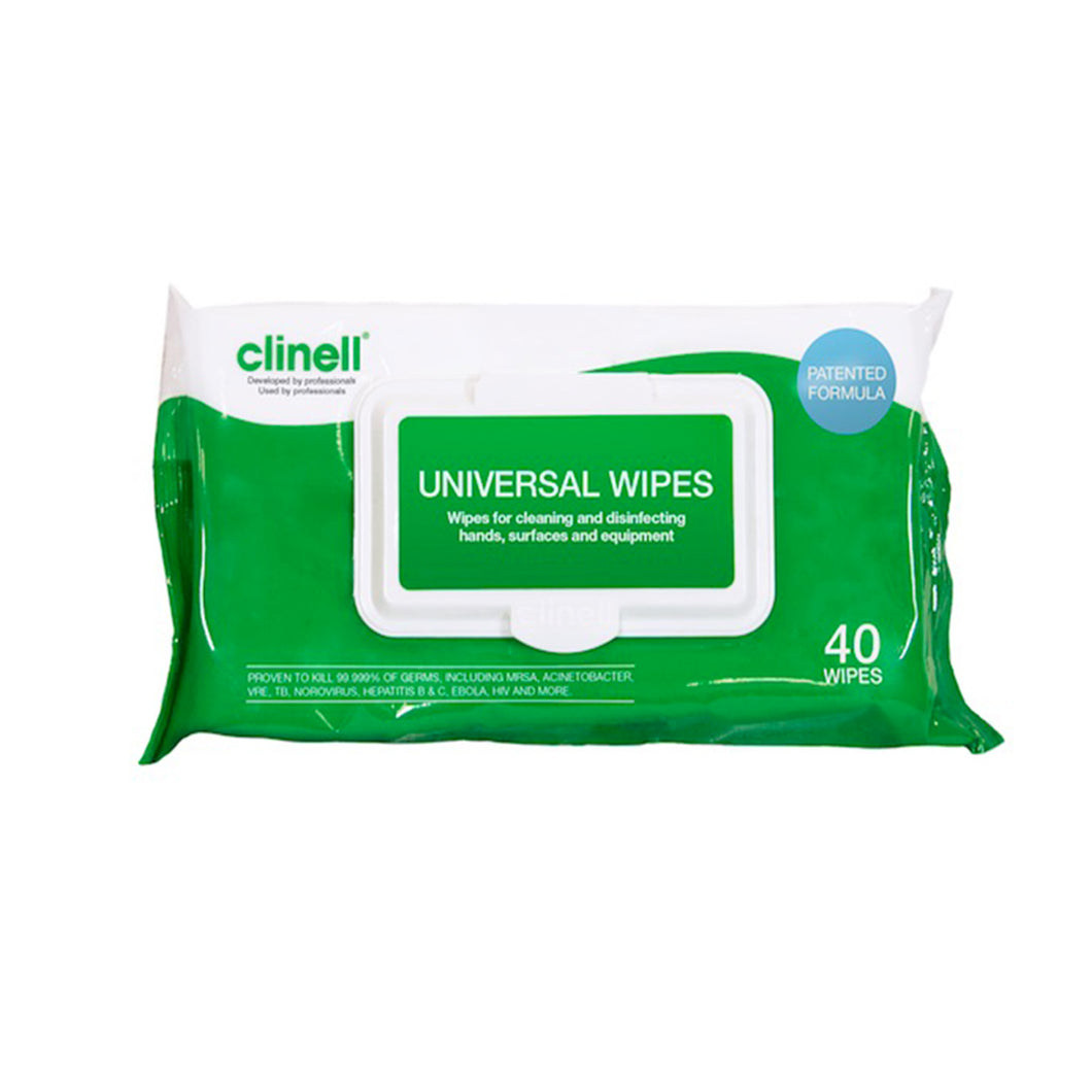 Clinell Universal Wipes - Pack of 40