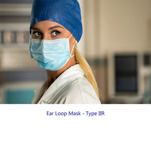 Surgical Face Mask Type IIR Ear Loop – Pack of 50