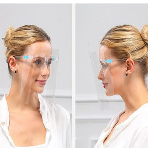 Clear Glasses Style Face Shield Changeable Visors - Includes 5 Visors