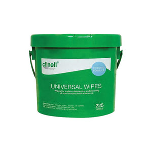 Clinell Universal Wipes Bucket - 225 Wipes
