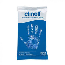 Load image into Gallery viewer, Clinell Antibacterial Hand Wipes (individually wrapped)