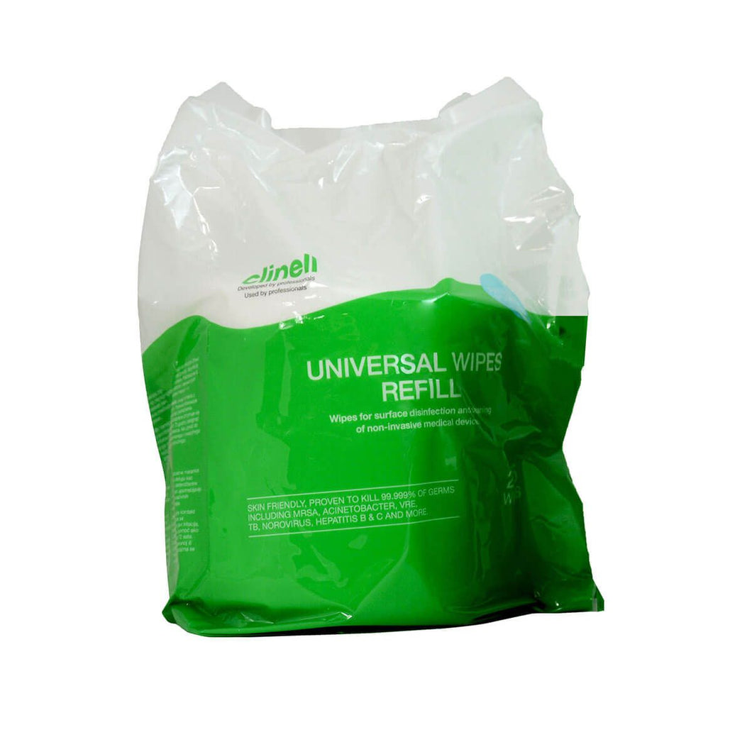Clinell Universal Wipes Bucket Refill- Pack of 225 Wipes