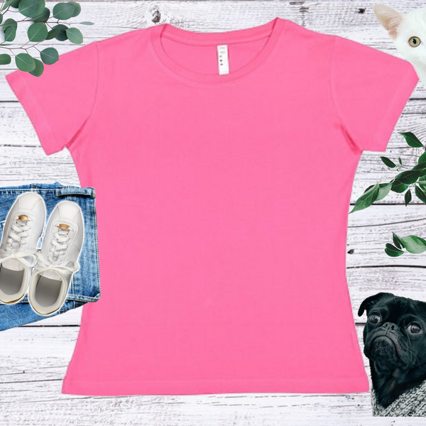 Ladies'Fit Crew Neck Short Sleeve T-shirt