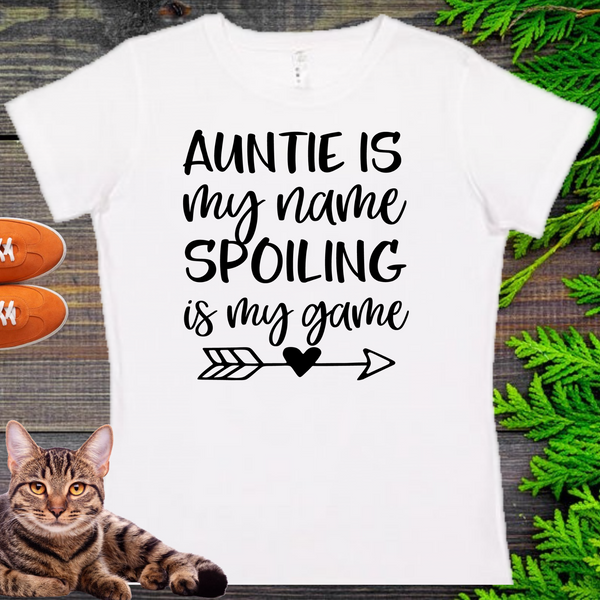 Auntie Is My Name  Ladies' Fitted Crew neck, V-neck T-shirt