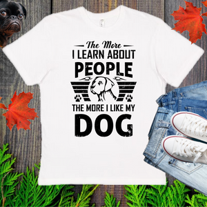 Dog And People   Men's And Unisex Fitted T-shirt