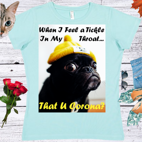 That U Corona?  Ladies' Fitted Crew neck, V-neck T-shirt