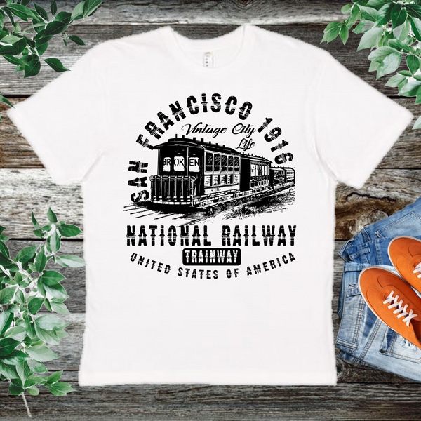 San Francisco National Railway   Men's And Unisex Fitted T-shirt