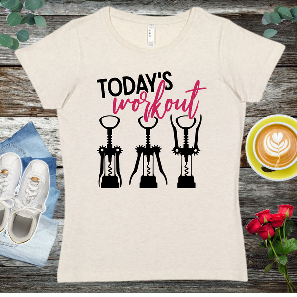 Today's Workout   Ladies' Fitted Crew neck, V-neck T-shirt