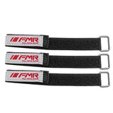 FMR Battery Straps 250mm x 20mm  with woven rubber and  Metal Buckle Variants