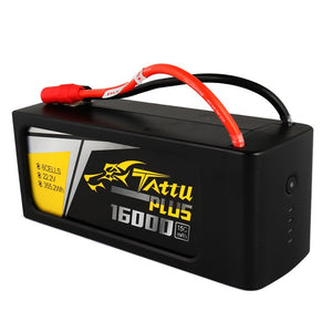 TATTU PLUS 16000MAH 22.2V 15C 6S1P LIPO SMART BATTERY PACK