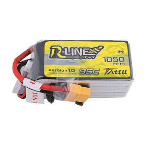 Tattu R-Line 1050mAh 95C 22.2V 6S1P Lipo Battery Pack