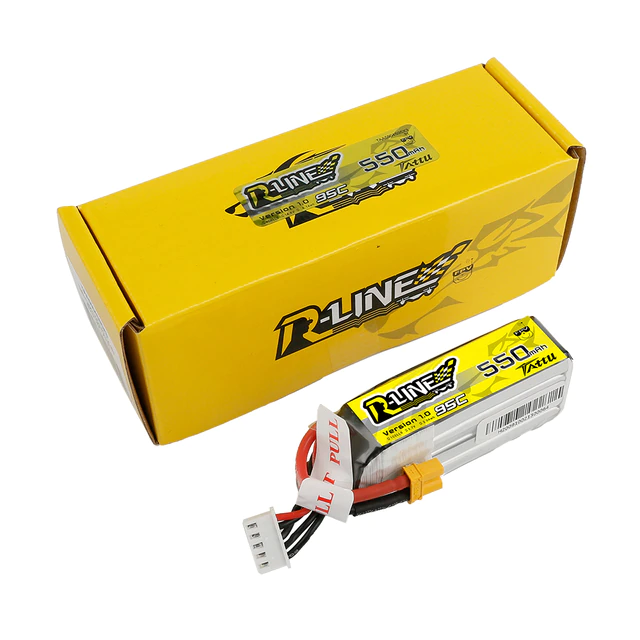 TATTU R-LINE 550MAH 95C 4S1P LIPO BATTERY PACK WITH XT30 PLUG
