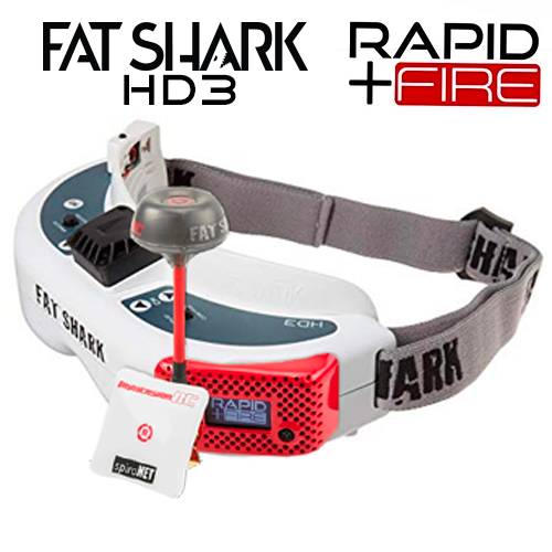 FATSHARK HD3 RAPIDFIRE MODDED AND CALIBRATED HEADSET COMBO