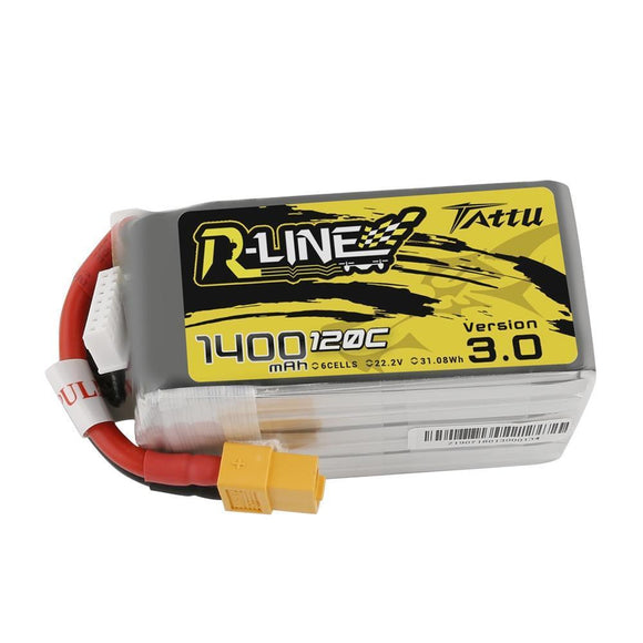 TATTU R-LINE V3.0 1400MAH 120C 6S1P LIPO BATTERY PACK