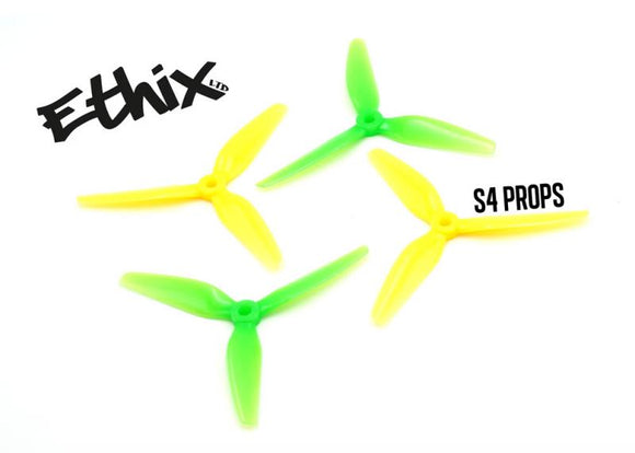 ETHIX S4 LEMON LIME PROPS 5X3.7X3 (8CW+8CCW) POLY CARBONATE