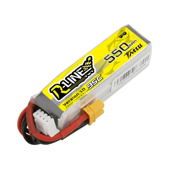 TATTU 550MAH 3S 95C 11.1V 95C LIPO BATTERY PACK WITH XT30 PLUG
