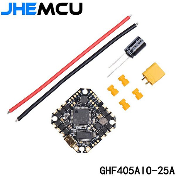 JHEMCU GHF405AIO BLHELI_S 25A 3-6S FLIGHT CONTROLLER AND ESC