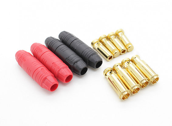 AS150 7MM ANTI SPARK SELF INSULATING BULLET CONNECTORS (2 PAIRS)