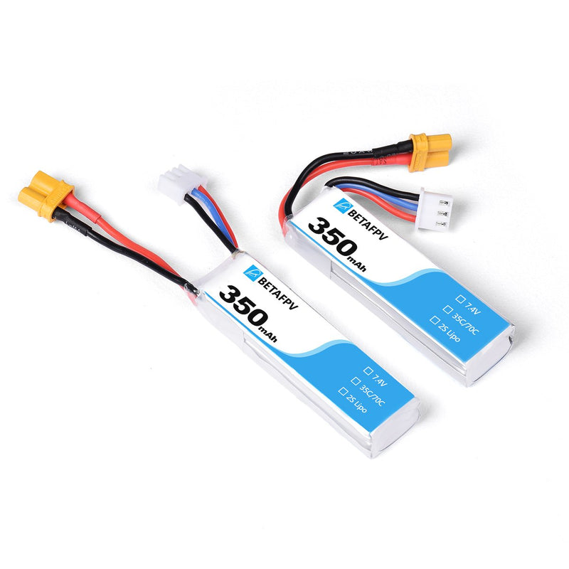 BetaFPV 350mAh 2S Lipo Battery XT30 (2PCS)