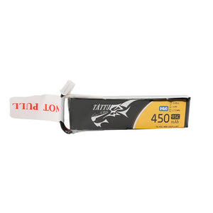 TATTU 450MAH 1S 95C 3.8V HIGH VOLTAGE 95C LIPO BATTERY PACK WITH JST-PHR PLUG - LONG PACK