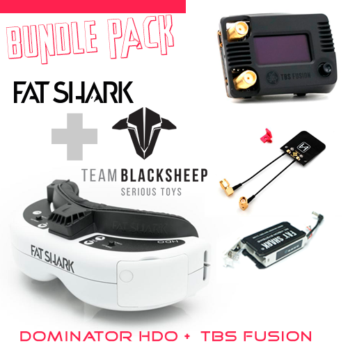 FATSHARK DOMINATOR HDO + TBS FUSION BUNDLE PACK