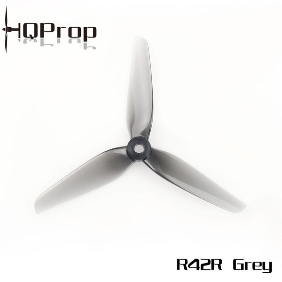 HQ RACING PROP R42 LIGHT GREY (8CW+8CCW) POLY CARBONATE