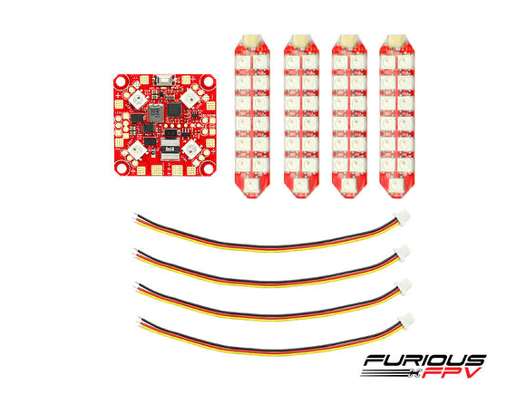 Furious FPV Lightning PDB with LED DUO row (4 LED Strips)