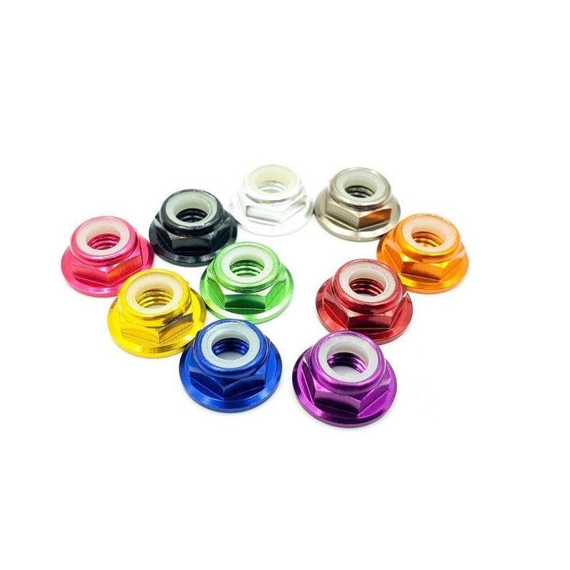 M5 ANODIZED PROP NUT LOW PROFILE FLANGED HARDWARE (5PCS.)