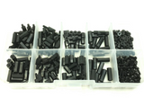 300PCS M2 NYLON BLACK HEX SCREW NUT SPACER STAND-OFF VARIED LENGTH ASSORTMENT HARDWARE KIT BOX