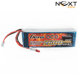 Gens Ace 2600mAh 3s 1c Transmitter Lipo Battery Pack suitable for Taranis X9D+ & X9D+ SE