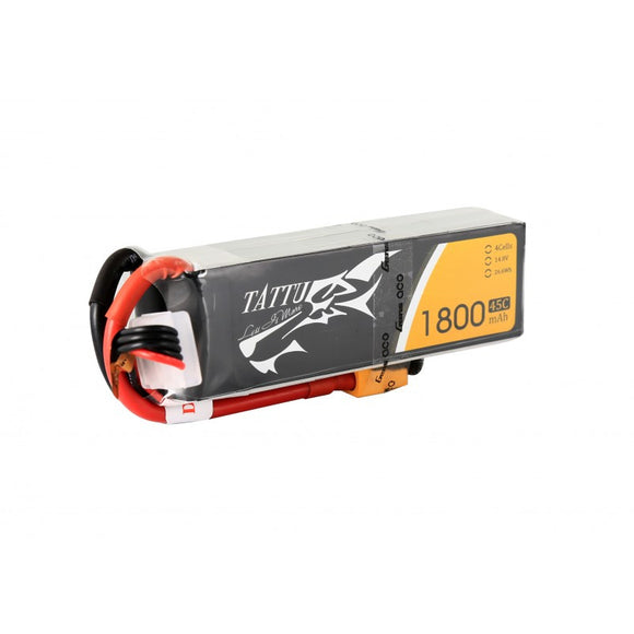 Tattu 1800mAh 4s 45-90c Lipo Battery Pack - Next FPV