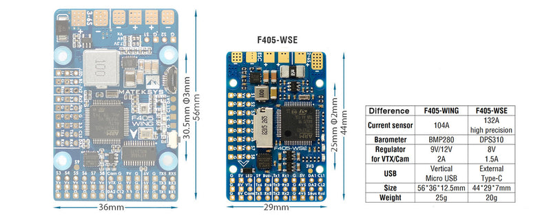 MATEK F405-WSE WING FLIGHT CONTROLLER