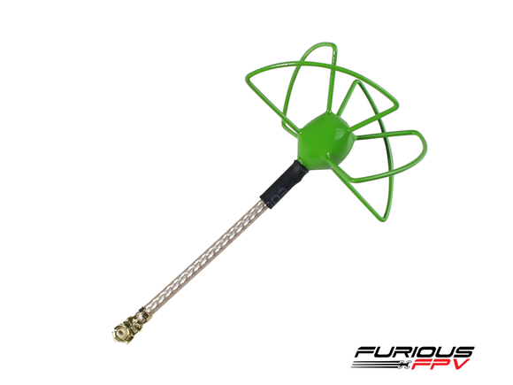 Furious FPV 37mm 5.8Ghz U.FL RHCP Circular Antenna (Green)