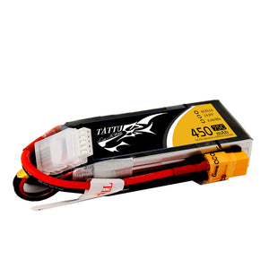Tattu 450mAh 4s 75-150c Lipo Battery Pack - NextFPV