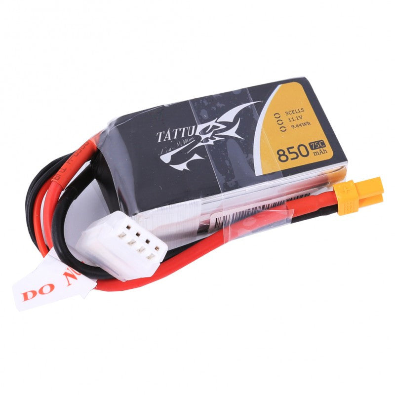 Tattu 850mAh 3s 75c Lipo Battery Pack - NextFPV - 1