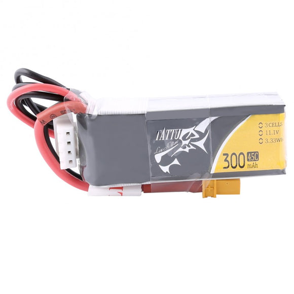 Tattu 300mAh 3S 45C Lipo Battery Pack XT30